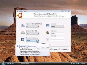 Wubi, pour tester Linux sans danger  directement sur Windows !
