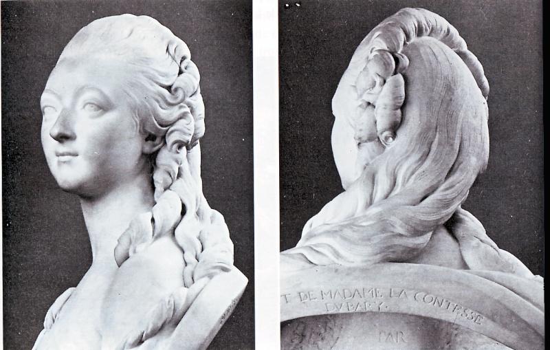 Avant de devenir compliquées, monumentales, excentriques, les coiffures féminines sous Louis XVI restèrent dans une note calme.