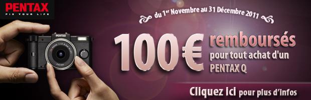 Remboursement de 100€ sur le Pentax Q