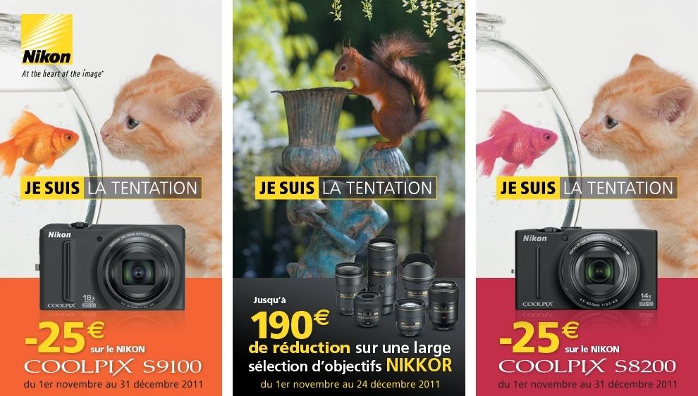 Remboursement jusqu'à 190€ sur certains Nikon