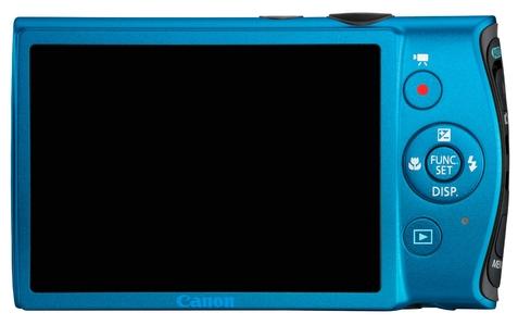 le Canon IXUS 230HS bleu de dos