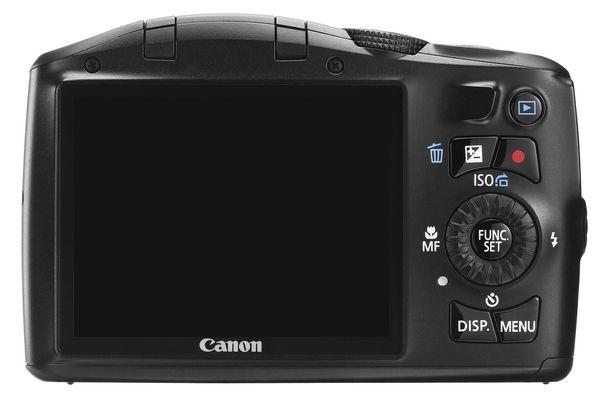 le Canon PowerShot SX150 IS noir de dos