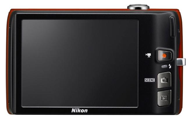 le Nikon Coolpix S4150 rouge de dos