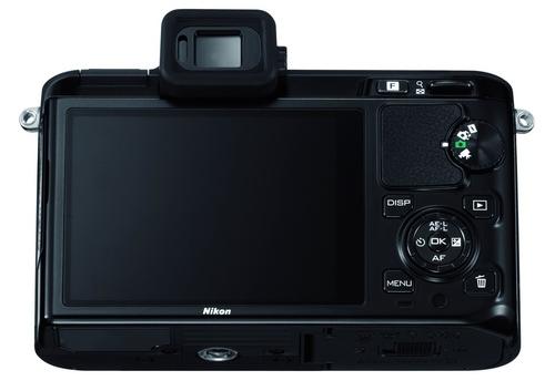 le Nikon 1 V1 noir de dos