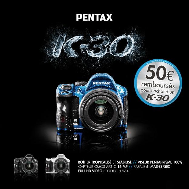 Remboursement de 50€ sur le Pentax K-30
