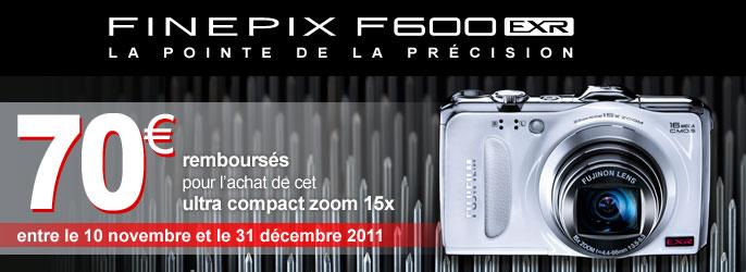 Remboursement de 70€ sur le Fujifilm FinePix F600EXR