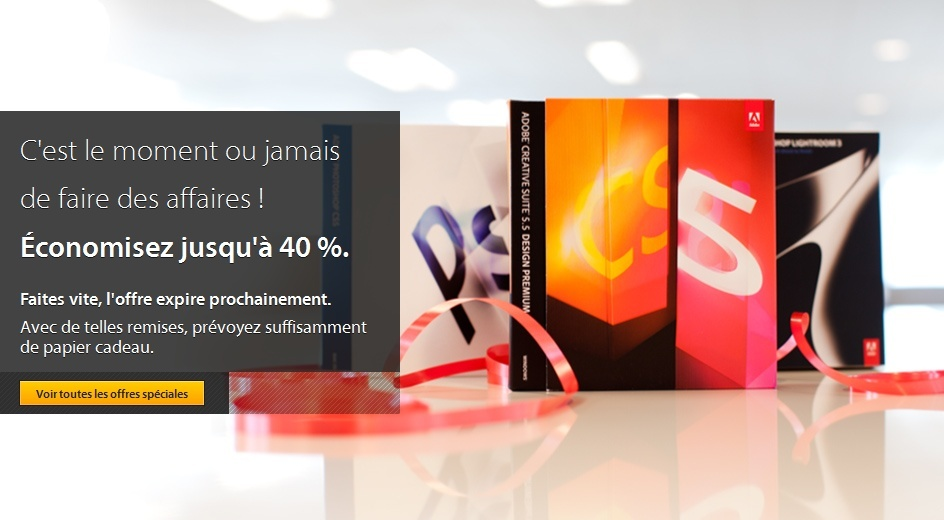 Adobe offre des réductions de 40% sur certains logiciels cette semaine