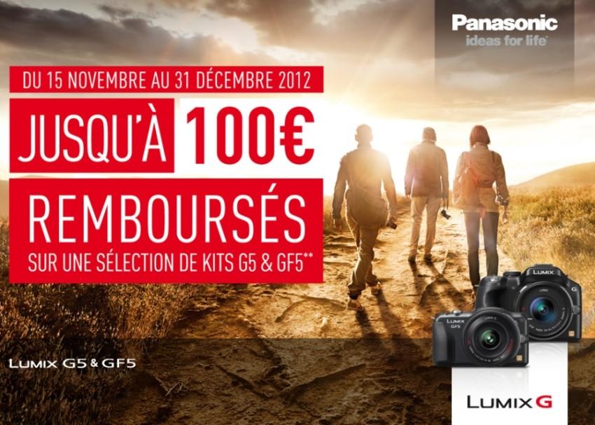 Remboursement jusqu'à 100€ sur certains appareils à objectifs interchangeables Panasonic