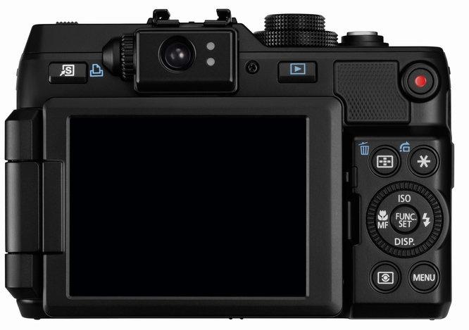 le Canon PowerShot G1 X de dos