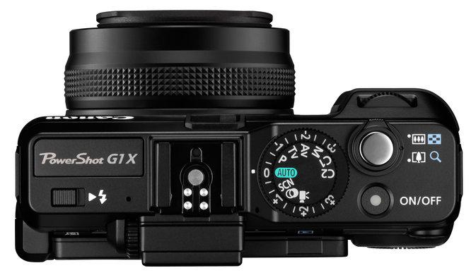 le Canon PowerShot G1 X de haut