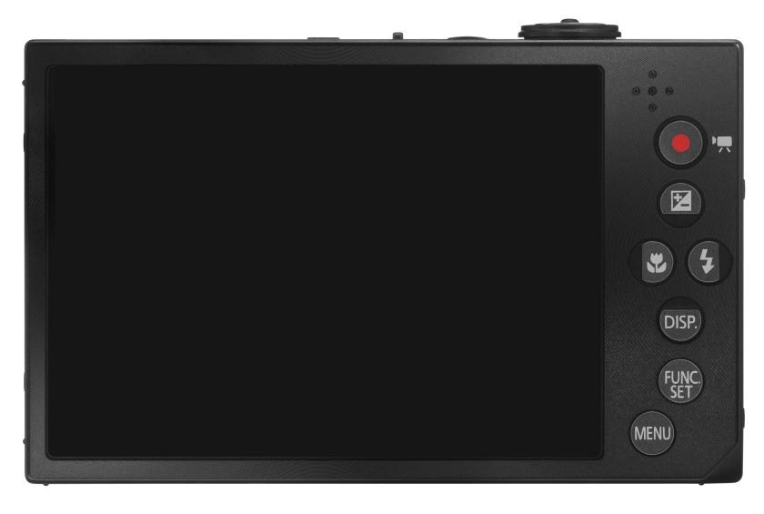 Canon IXUS 500 HS noir de dos