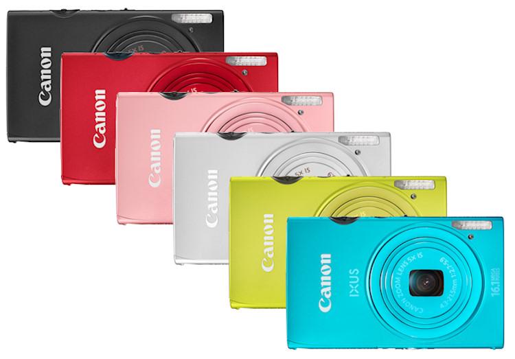Les différentes couleurs du Canon IXUS 125 HS