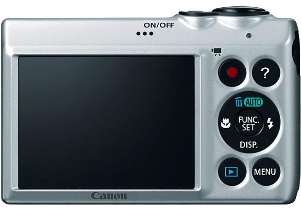 Canon PowerShot A810 argent de dos