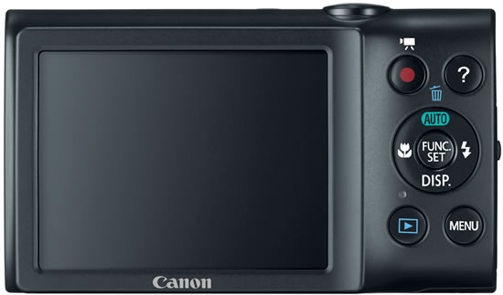Canon PowerShot A2400 IS noir de dos