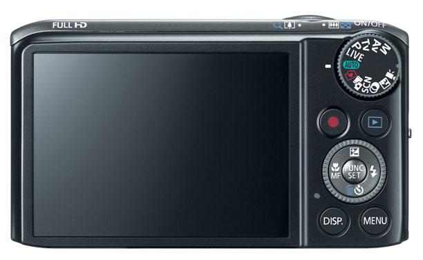 Canon PowerShot SX260 HS noir de dos