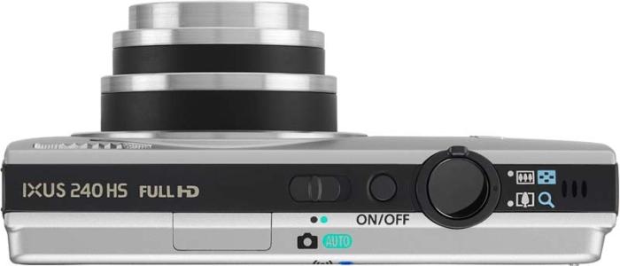 Canon IXUS 240 HS argent de haut
