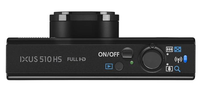 Canon IXUS 510 HS noir de haut