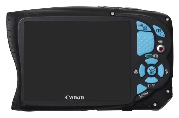 Canon PowerShot D20 bleu de dos