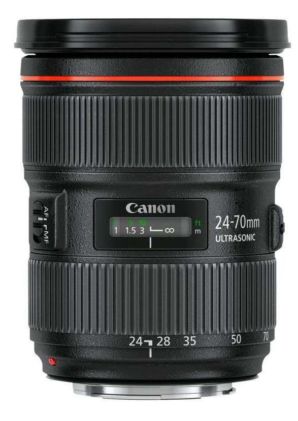 Nouveaux objectifs de la série EF pour Canon avec l'EF 24-70mm f/2,8L II USM