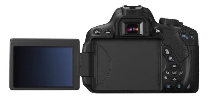 Canon EOS 650D et son écran LCD orientable et tactile multipoint