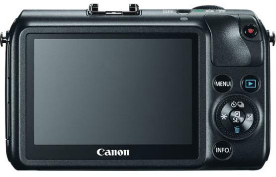 Canon EOS M noir de dos