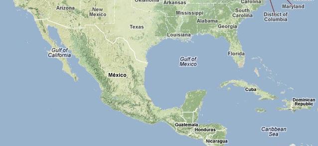 Carte du Mexique sur Google Maps