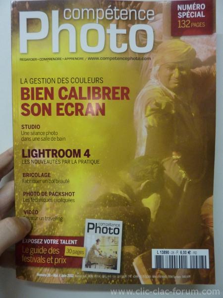 Compétence Photo n°28 de Mai/Juin 2012 Bien calibrer son écran - Photoshop Lightroom 4