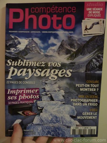 Compétence Photo n°31 de Novembre/Décembre 2012 Photo de paysage - Impression à domicile - Censure