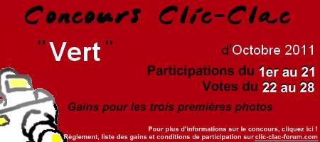 Concours de photographie Clic-Clac d'Octobre 2011, Vert