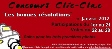 Concours de photographie Clic-Clac de Janvier 2012, Les bonnes résolutions