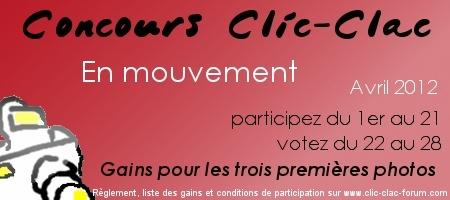 Concours photo du forum de photographie Clic-Clac d'Avril 2012, sur le thème En mouvement