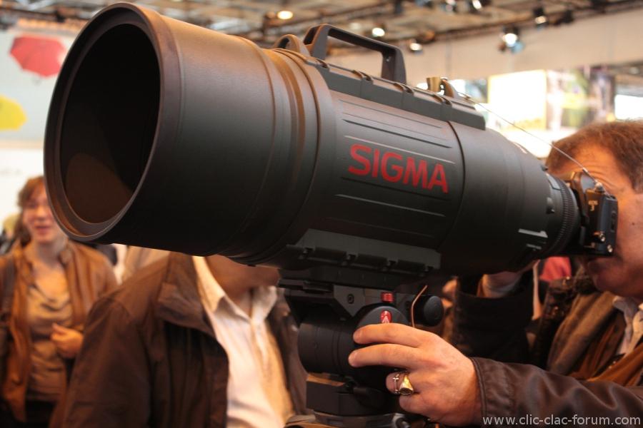 Sigma APO 200-500mm f/2.8 EX DG au Salon de la Photo 2012
