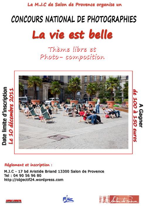 concours photo Concours national de photographie par La Maison des Jeunes et de la Culture de Salon de Provence, la ville Salon de Provence et Studio 121