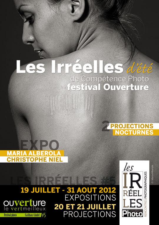 Les Irréelles d'été du magazine photo Compétence Photo avec Maria Alberola et Christophe Niel au 5ème Ouverture, le Vertmeilleux festival photo de Cailhau