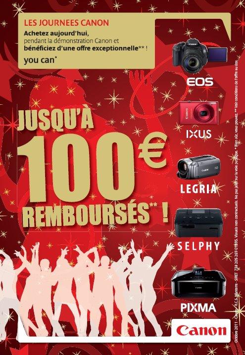 Démonstrations et remises pendant les journées Canon du vendredi 9 au samedi 10 décembre 2011