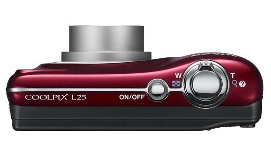 Nikon Coolpix L25 rouge de haut