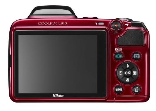 Nikon Coolpix L810 rouge de dos
