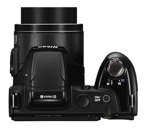 Nikon Coolpix L810 noir de haut