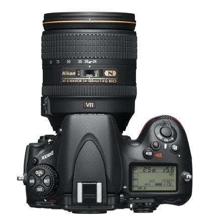 Nikon D800E de haut