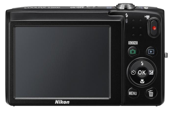 Nikon Coolpix S2600 noir de dos