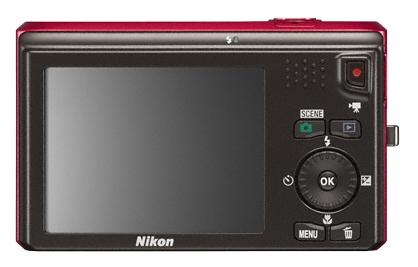 Nikon Coolpix S6300 rouge de dos
