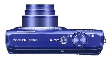 Nikon Coolpix S6300 violet de haut