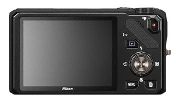 Nikon Coolpix S9200 noir de dos