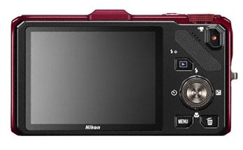 Nikon Coolpix S9300 rouge de dos