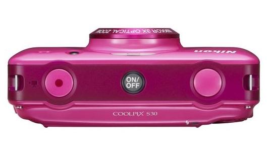 Nikon Coolpix S30 rose de haut