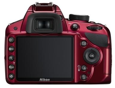 Nikon D3200 rouge de dos