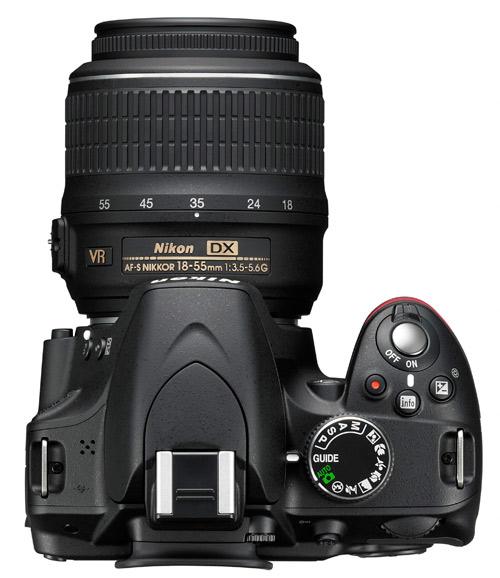 Nikon D3200 noir de haut