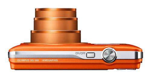 Olympus Smart VG-160 orange de haut
