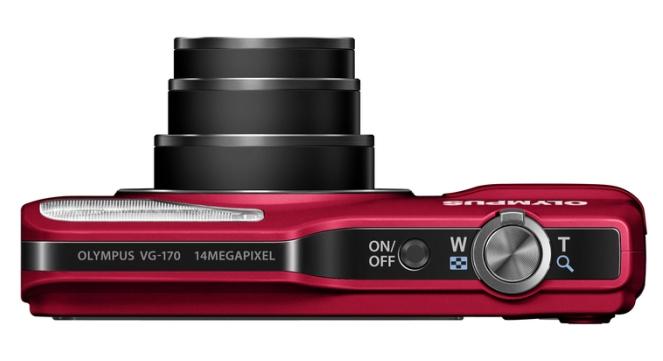 Olympus Smart VG-170 rouge de haut