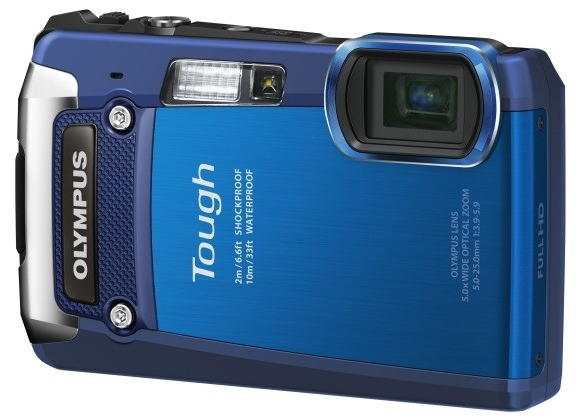 Olympus Tough TG-620 bleu de face